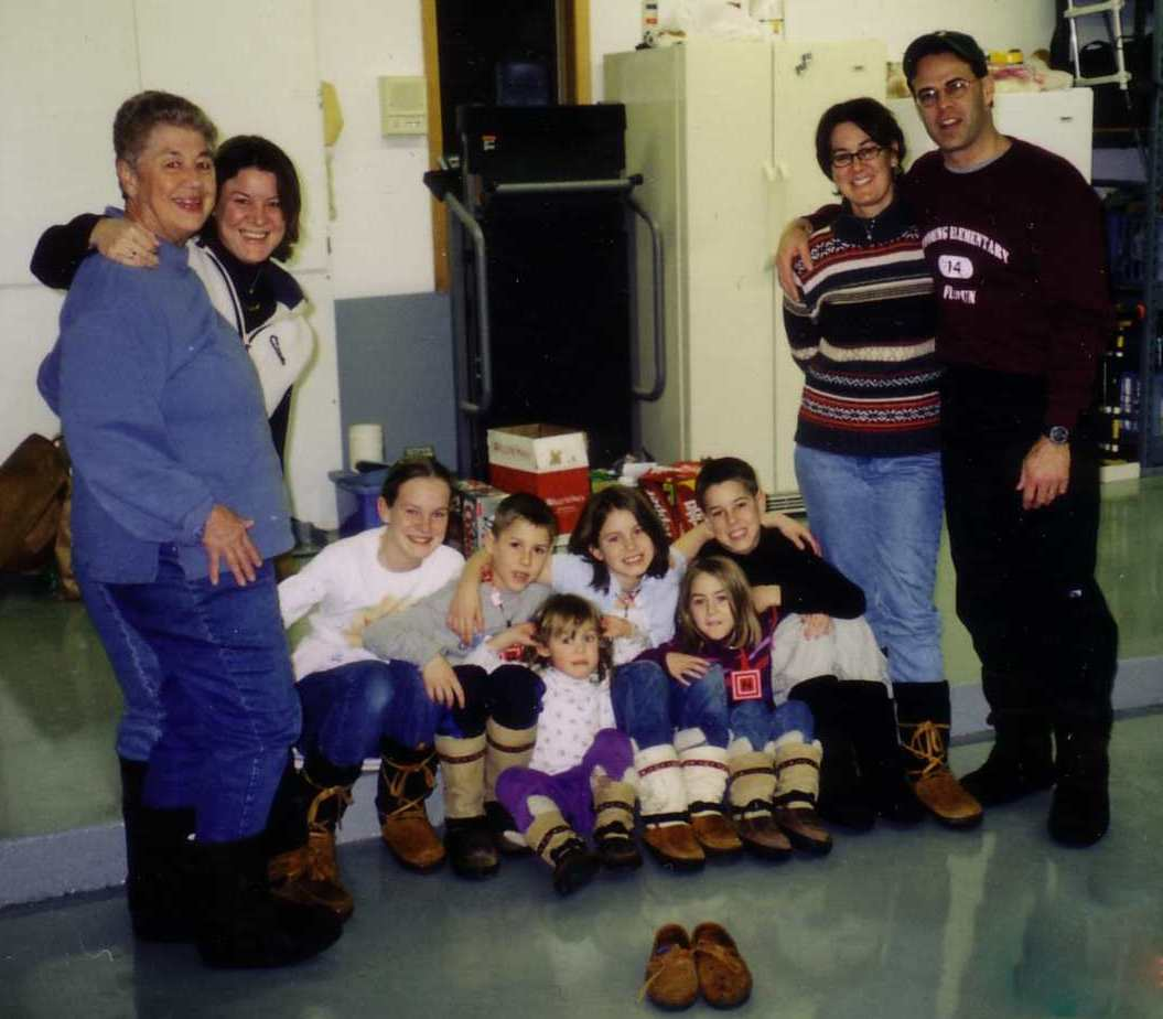 10 members of Judy Majerles family in Steger Mukluks