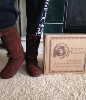 Amanda Laurent from Kansas City wears Steger Mukluks