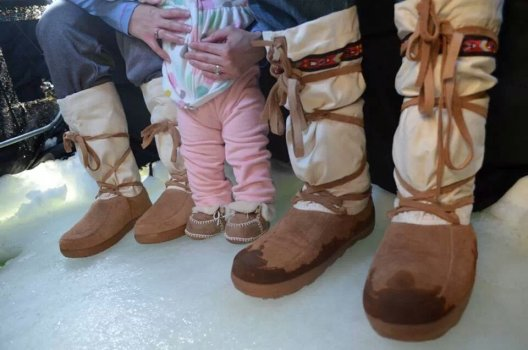 Brooks Clemenson family wearing Steger Mukluks