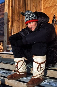 Gregers Gjersoe from Near Sundbyerne Staden Kobenhavn has worn his Steger Mukluks across the icecap of Greenland